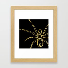 Spider in Gold Framed Art Print