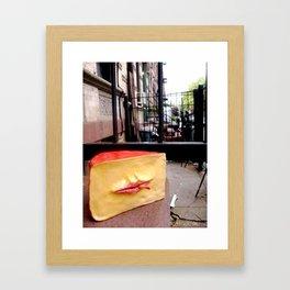 Smoking Cheese Framed Art Print