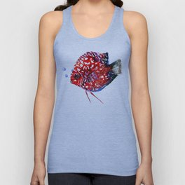 Scarlet Red Discus Unisex Tank Top