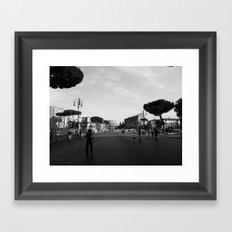 all roads lead to rome Framed Art Print