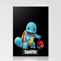 squirtle Stationery Cards featuring Squirtle 2 by Yamilett Pimentel