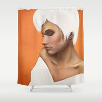 focus Shower Curtains featuring Focus by ObeyMyBrain