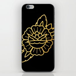 Gold Traditional Rose iPhone Skin