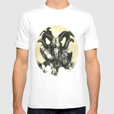 The Ram and the Crows Mens Fitted Tee MEDIUM White