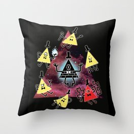 Cipher Cycle Throw Pillow