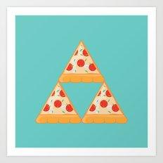 Tri-Pizza Art Print