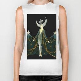 "Art Deco Design ""Queen of the Night"" Biker Tank"
