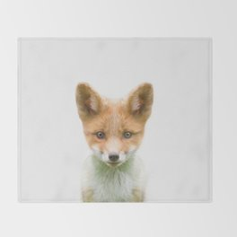Baby Fox Throw Blanket