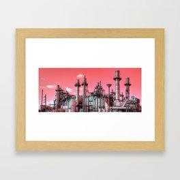 Refinery Panorama Framed Art Print