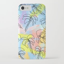 Live This Moment no.1 - illustration palm tree pattern summer tropical beach California pastel color iPhone Case