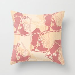 Fractal of the West Style Design Throw Pillow