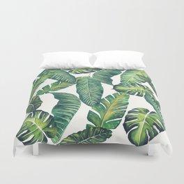 Jungle Leaves, Banana, Monstera II #society6 Duvet Cover