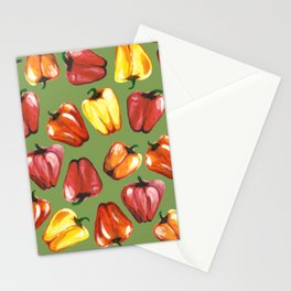 Bell Peppers Pattern Stationery Cards