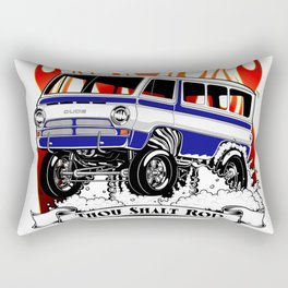 1969 GASSER VAN - BLUE Rectangular Pillow