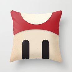 Minimal Powerup Throw Pillow