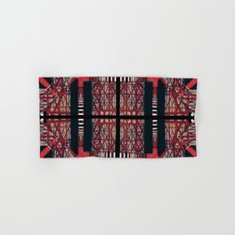 number 169 red black white pattern Hand & Bath Towel