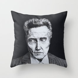 Portrait of Christopher Walken Throw Pillow