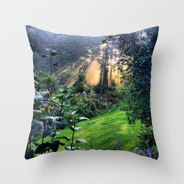 Magic Morning Sunlight Throw Pillow