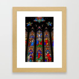 INRI Stained Glass Framed Art Print