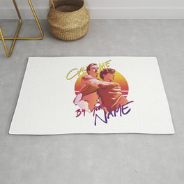 Call Me By Your Name Retro Sunset Rug