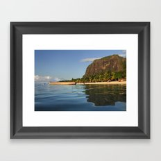 Le Morne Beach, Mauritius Framed Art Print