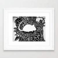rat Framed Art Prints featuring Rat by Mindy Robinson