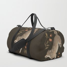 The Wolf and Rose Hips Duffle Bag