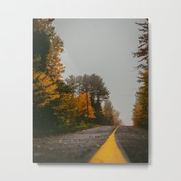 Chemin d'automne Metal Print