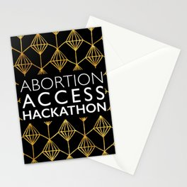 Abortion Access Hackathon in gold Stationery Cards