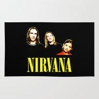nirvana Area & Throw Rugs featuring Nirvana Band by Rothko