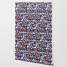 Colorful Modern Terrazzo Vector Pattern Wallpaper