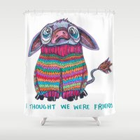donkey Shower Curtains featuring Donkey by Ruth Wels