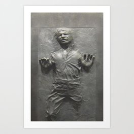 Han Solo Frozen in Carbonite Art Print