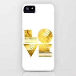 LOVE Typography Art iPhone Case