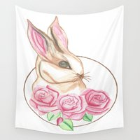 bunny Wall Tapestries featuring Bunny by N. Ramsay