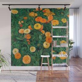 Marigolds by Koloman Moser, 1909 Wall Mural