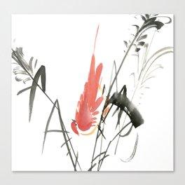 Bird 4- Chinese Shui-mo (水墨) Canvas Print