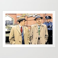 Leonardo DiCaprio in Shutter Island - Colored Sketch Style Art Print