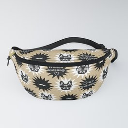 Hipster French Bulldog, black, coffee, dog pattern Fanny Pack