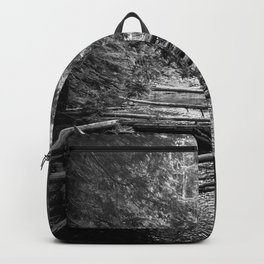 Enchanted Forest in black and white Backpack