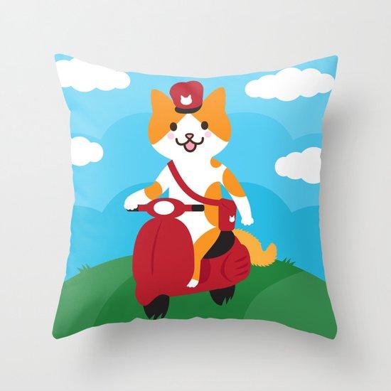 Postcat Throw Pillow