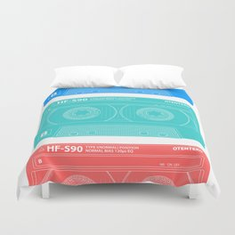 Cassette old school music Duvet Cover