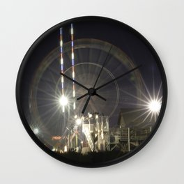 Ferris Wheel at night Wall Clock
