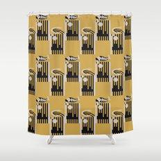 Art Deco Bird & Fish - Hemingway Shower Curtain
