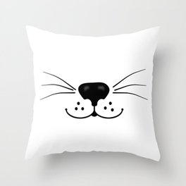 Cat Nose and Mouth Throw Pillow