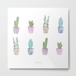 Home sweet home cactus Metal Print