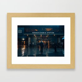 Out From the Rain Framed Art Print