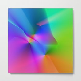 colorful rainbow abstract texture Metal Print