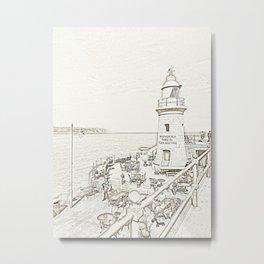 Folkestone Lighthouse Metal Print