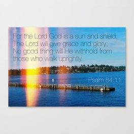 Bible Verse: Sun and Shield Canvas Print